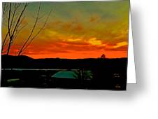 Quicksilver Sunset Greeting Card