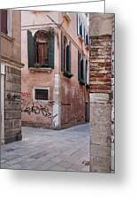 Quiet Corner In Venice Greeting Card