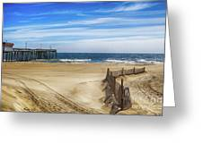 Quiet Day On The Beach Greeting Card