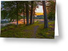 Quiet Evening, Pocono Greeting Card