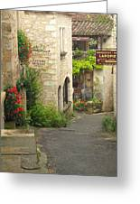 Quiet Lane In St Cirq I France Greeting Card