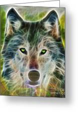 Quiet Majesty - Fractalized Version Greeting Card