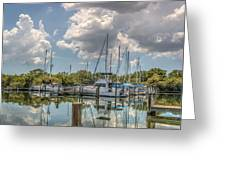 Quiet Marina Greeting Card