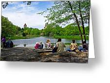 Quiet Moment In Central Park Greeting Card
