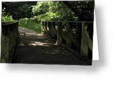 Quiet Path Bridge Greeting Card