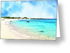 Quiet Shore Near Makalawena Greeting Card