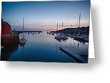 Quiet Solitude Rockport Harbor Greeting Card