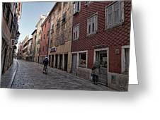 Quiet Street In Rovinj - Croatia Greeting Card