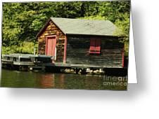 Quiet Sunapee Fishing Cabin Greeting Card