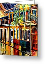 Quiet Vieux Carre Greeting Card