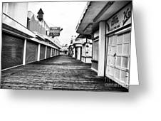 Quiet Walk Greeting Card by John Rizzuto