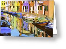 Quiet Waterway Reflections Greeting Card