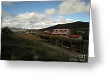 Quilatoa Village Greeting Card