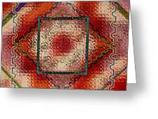 Quilt Block Transformed Greeting Card