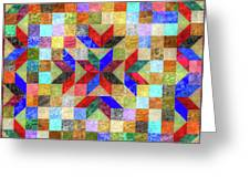 Quilt Pattern No. 1 Greeting Card