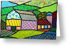 Quilted Bath County Barn Greeting Card