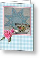 Quilted Star Card Greeting Card