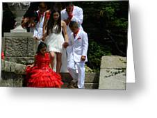 People Series - Quinceanera Ceremony  Greeting Card