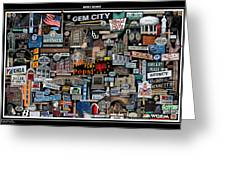 Quincy, Il Collage Greeting Card