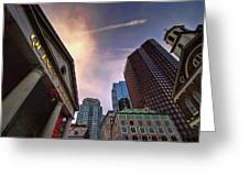 Quincy Market Sky Greeting Card
