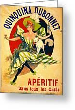 Quinquina Dubonnet Aperitif 1895 Greeting Card