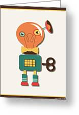 Quirky Retro Wind-up Toy Greeting Card