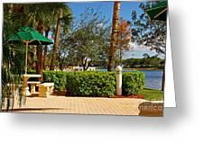 Quite Corner In Weston Florida Greeting Card