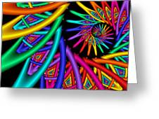 Quite In Different Colors -4- Greeting Card