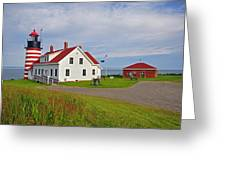 Quoddy Head Lighthouse Greeting Card