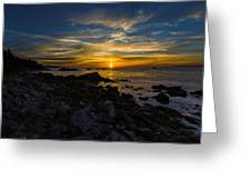 Quoddy Head State Park Sunrise Panorama Greeting Card