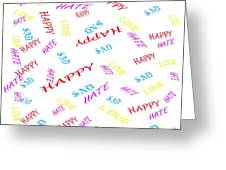 Quoted Emotions Greeting Card