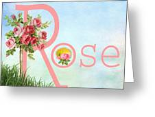 R For Rose Greeting Card