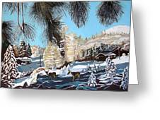 R-ranch In The Winter Greeting Card