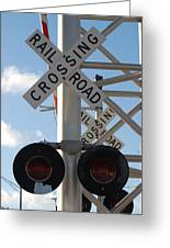 R X R Crossing Greeting Card