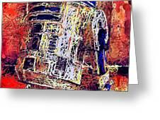 R2 - D2 Greeting Card by Al Matra