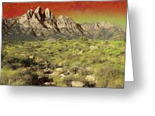 Rabbit Ears And Foothills Greeting Card