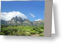 Organ Mountains Rabbit Ears Greeting Card
