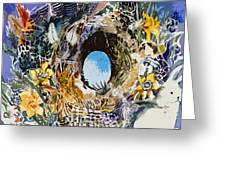 Rabbit Hole Or Robin Egg Greeting Card