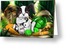 Rabbit In Chinese Zodiac Greeting Card