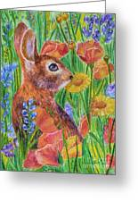 Rabbit In Meadow Greeting Card