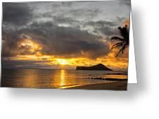 Rabbit Island Sunrise - Oahu Hawaii Greeting Card by Brian Harig