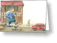 Rabbit Marcus The Great 19 Greeting Card by Kestutis Kasparavicius
