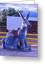 Rabbit Ride Route 66 Greeting Card