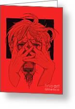 Rabid Breathing Red Variant Greeting Card