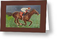 Race Horse Big Brown Greeting Card