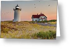 Race Point Light Cape Cod Square Greeting Card