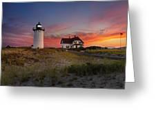 Race Point Light Sunset 2015 Greeting Card
