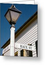 Race St Old Salem Greeting Card