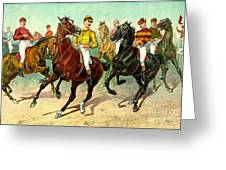 Racehorses 1893 Greeting Card