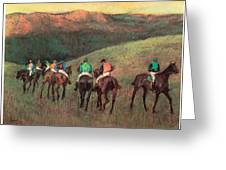 Racehorses In A Landscape Greeting Card